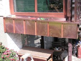 Mauerabdeckung in Winkelstehfalztechnik mit Kupfer